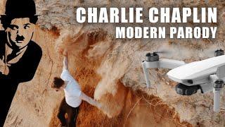 Dji Mavic cinematic Modern Charlie Chaplin Parody