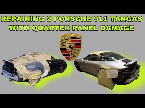 HOW TO REPAIR A QUARTER PANELS ON 911 PORSCHE TARGA VLOG DIY