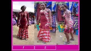 3 robes en une seule, preuve de l'innovation créatrice des jeunes femmes formées par HPP-Congo