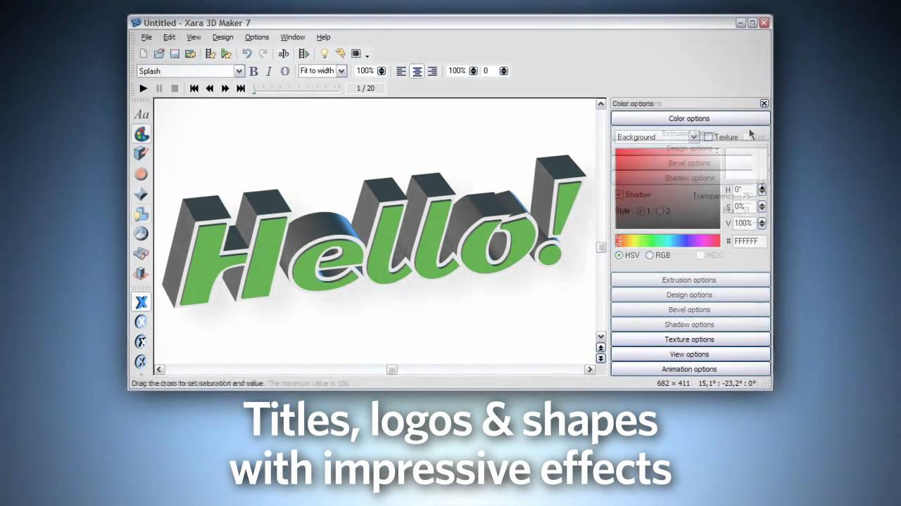 Top Tips for Using Xara 3D Maker 7 for 3D titles