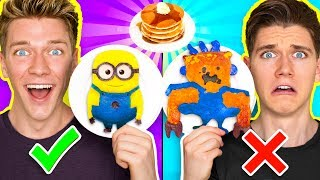 pancake art challenge learn how to make minions spiderman fidget spinner out of diy pancake