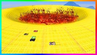 GTA 5 DLC ULTRA HARD UNRELEASED CUSTOM STUNT RACES - INSANE FIRE PIT SPEED TRAP, DEATH DROPS & MORE!