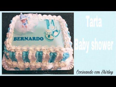 Decoración Fácil De Torta Para Baby Shower Cocinando Con Shirley