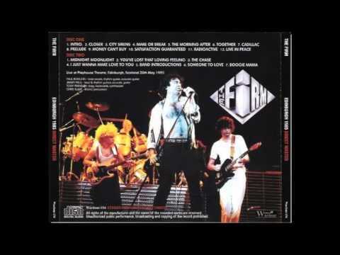 The Firm  -  Edinburgh 5 20 85 Soundboard