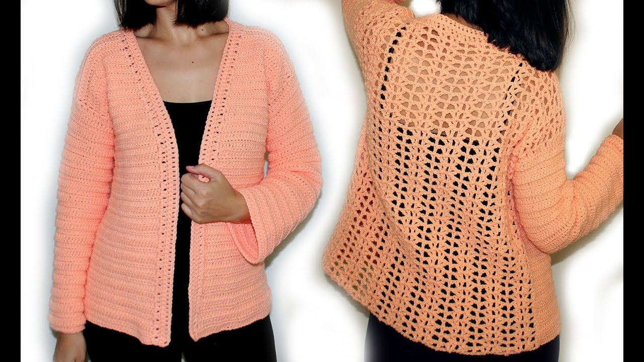 Crochet Elegant Cardigansweater Youtube