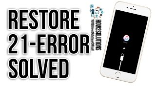 Apple iPhone || How to fix the iPhone cannot be restored error 21 Review