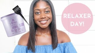 RELAXER DAY: MY FIRST SALON RELAXER IN 8 YEARS!   Healthy Hair Junkie