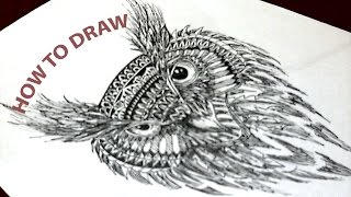 ArtBlack | Сова | How to draw an owl ?