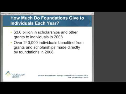Finding Foundation Support for Your Education