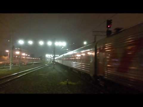 Отправление фирменного поезда №15 Арктика Мурманск - Москва со ст. СПб-Ладожский (30 октября 2016)