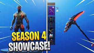 "SEASON 4 Tier 100 ""MAX BATTLE PASS"" Showcase! Fortnite NEW Season 4 SKINS! (Fortnite Battle Royale)"