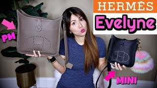Gambar cover Hermes EVELYNE MINI VS PM   LOVE OR HATE?  WHAT FITS,, COMPARISON   CHARIS