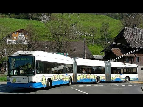 Trolley Bus in Zurich - Switzerland.