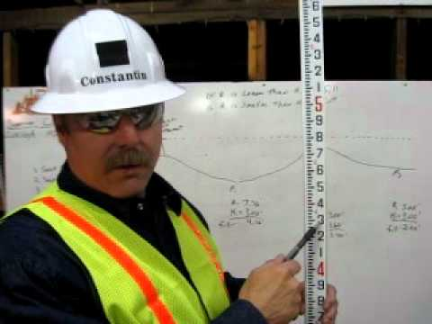 Certified grade checker Michael Constantin teaching how to read an Engineer's Rule