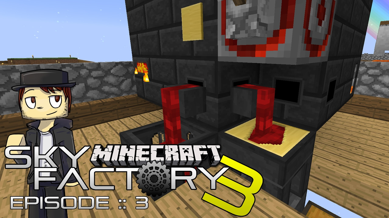 SKY FACTORY 3  TINKERS SMELTERY!  Episode 3 (MODDED