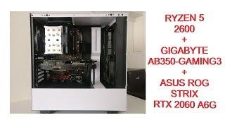 NEW PC BUILD MONTAGE - AMD RYZEN 5 2600 + GIGABYTE AB350 GAMING 3 + ASUS ROG STRIX RTX 2060 A6G