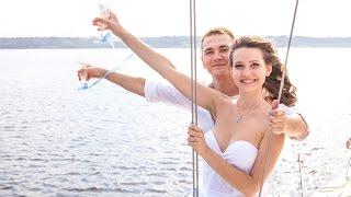 Свадебная фотосессия на яхте - Женя и Лера - фото слайдшоу