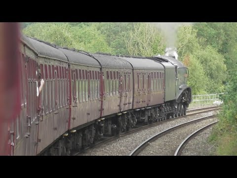 LNER A4 4-6-2 no 60009 Union of South Africa from London to Worcester & Return 26/8/17