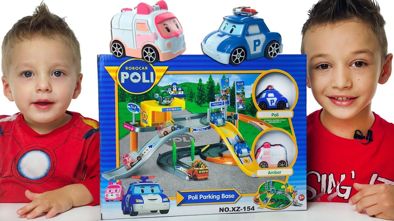 Видео про машинки РОБОКАР ПОЛЛИ Детская парковка Игрушки Робокар Полли новые серии