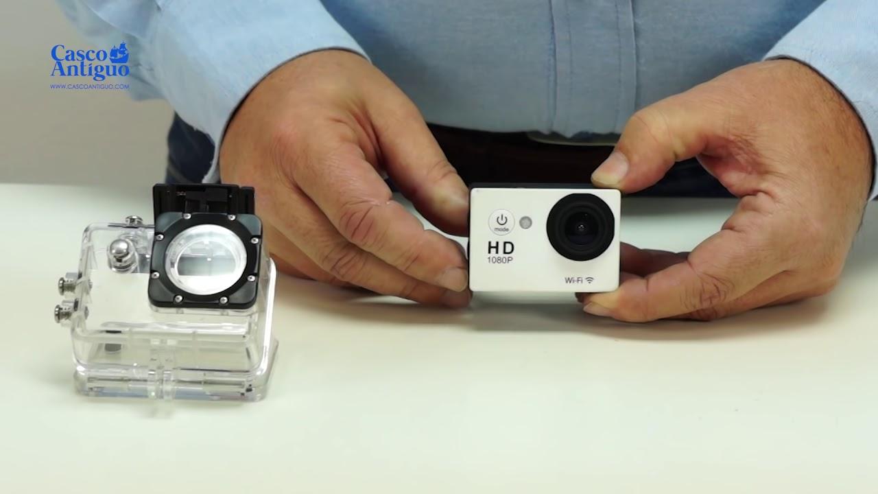 Cámara de acción HD 720p Impermeable En Plata Y Accesorios Completa Tarjeta SD de 8GB