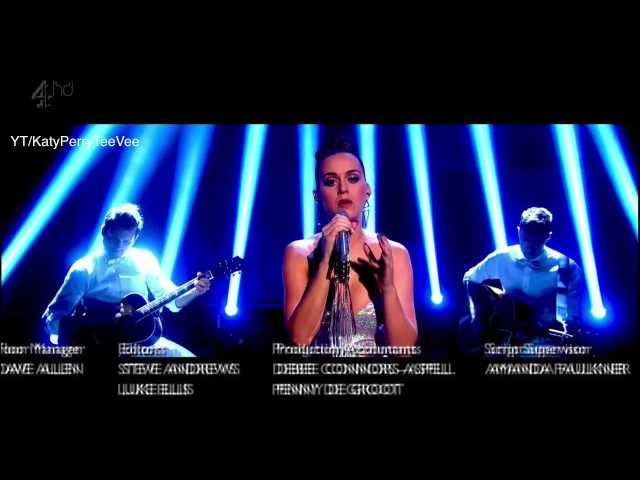 Katy Perry - Unconditionally (Live acoustic @ Alan Carr Chatty Man 2013)