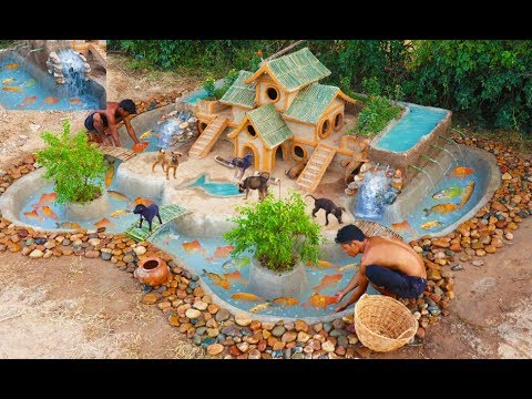 Help Fishes From Dry Season & Build Beautiful Fish Pond Around Puppy's Villa