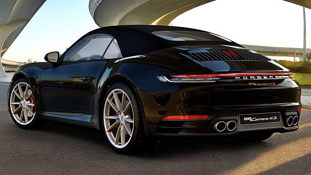 2020 Porsche 911 Carrera Cabriolet All Colors Design Driving