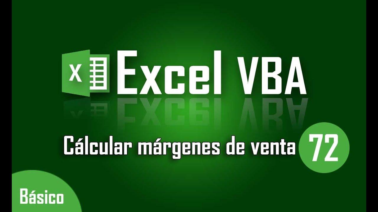 Como calcular el margen de ventas en Excel - Capítulo 72 - YouTube