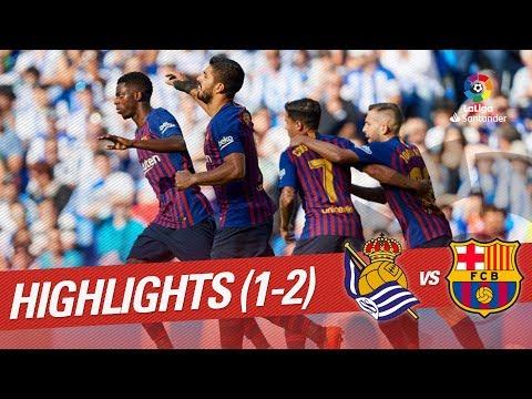 Resumen de Real Sociedad vs FC Barcelona (1-2)