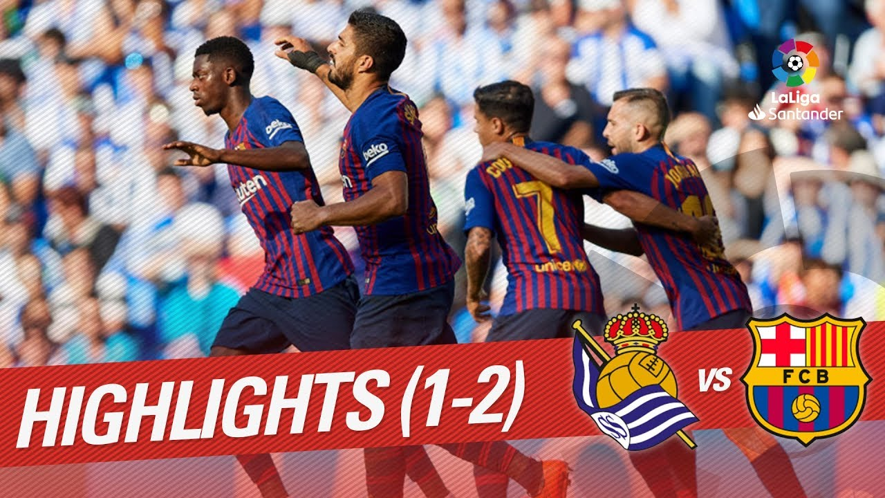 Resumen De Real Sociedad Vs Fc Barcelona 1 2 Youtube