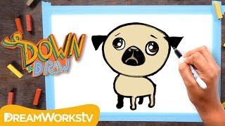 How To Draw A Pug...Like a Thug | DOWN TO DRAW