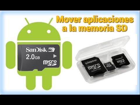 Mover aplicaciones a la tarjeta SD o memoria externa de android