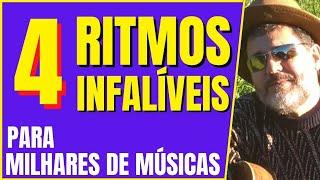 Baixar EM 3 MINUTOS APRENDA 4 RITMOS FÁCEIS PARA MILHARES DE MÚSICAS - MICRO AULA DE #1/ 6 DE VIOLÃO