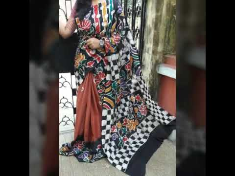 Molmol batik saree and hand painting Panchami collection 7998279420