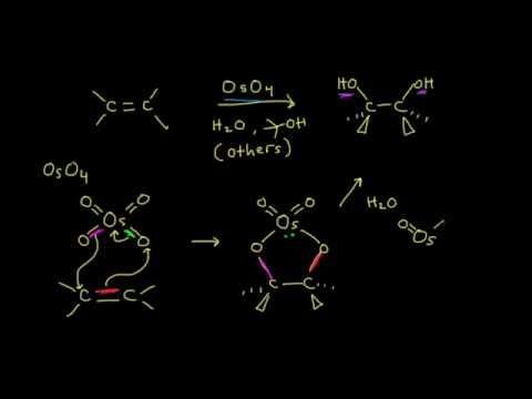 Syn dihydroxylation   Alkenes and Alkynes   Organic chemistry   Khan Academy