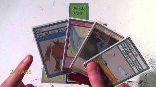 Chaos Galaxy TCG Rule Video 2: Battle Zones and Turn Structure Home made Trading Card Game