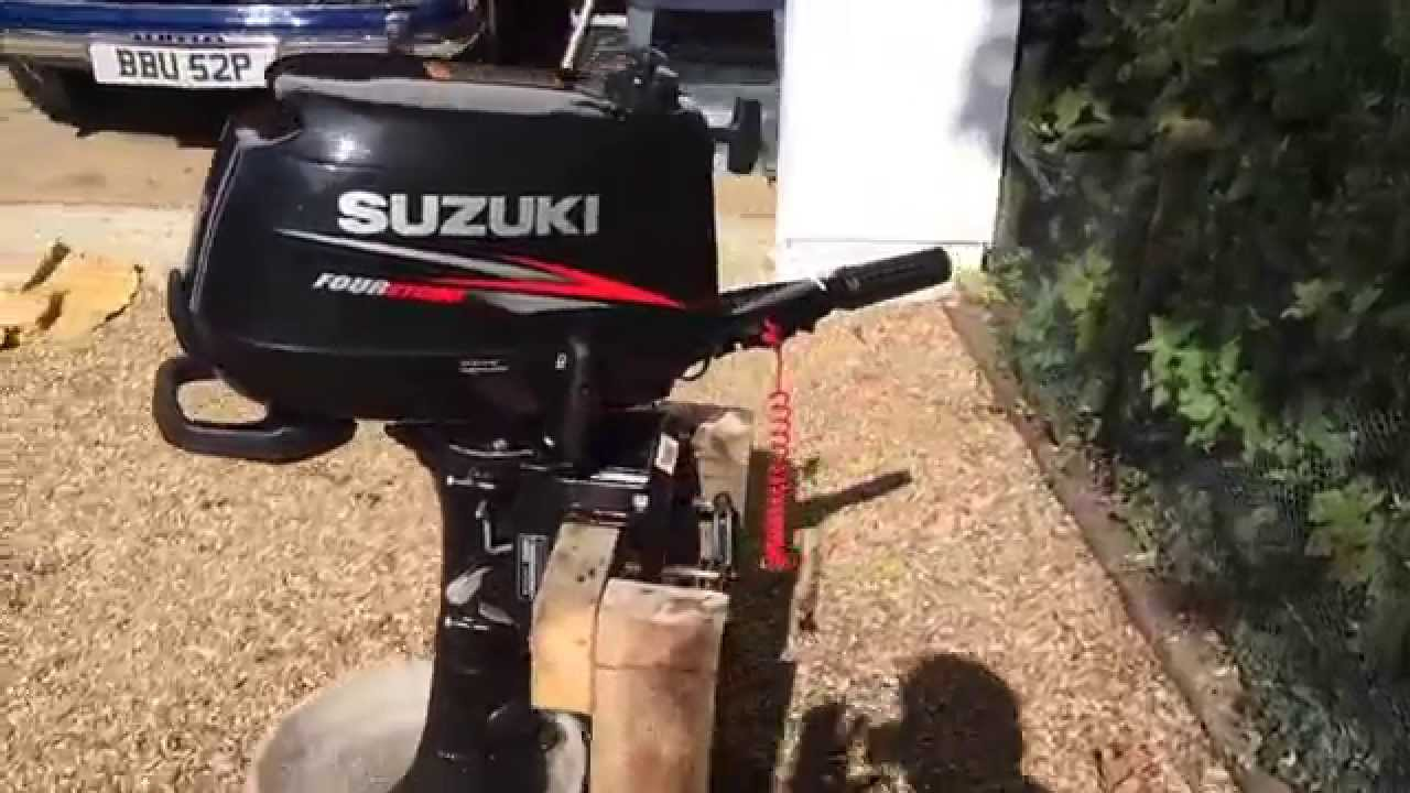 Suzuki DF6 6HP outboard for sale - shown running - YouTube