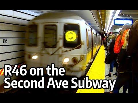 ⁴ᴷ R46 R and Q Train in Manhattan