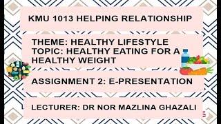 Healthy lifestyle | kmu 1013 helping ...