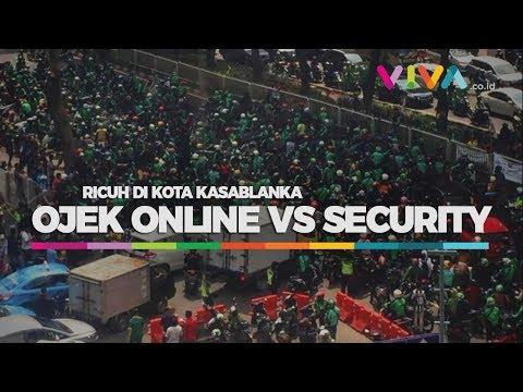 Bentrok Ojek Online vs Security di Mal Kota Kasablanka