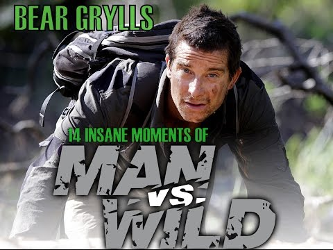 Man vs Wild  Best 14 awesome INSANE moments   BEAR GRYLLS    DISCOVER    USA    INDIA