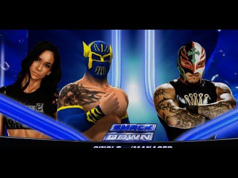 WWE Sin Cara with Aj Lee vs Rey Mysterio Full Match ...