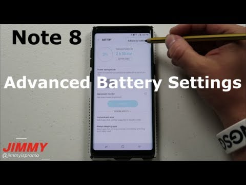 The HIDDEN Note 8 Advanced Battery Settings
