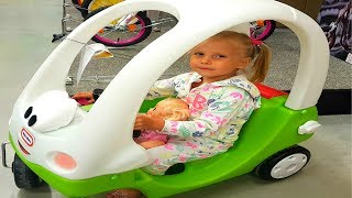 Funny Baby doing shopping Nursery Rhymes Supermarket song for children babies and toddlers with doll