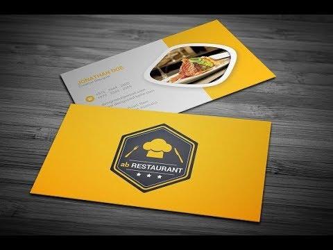 Restaurant Business Card - YouTube