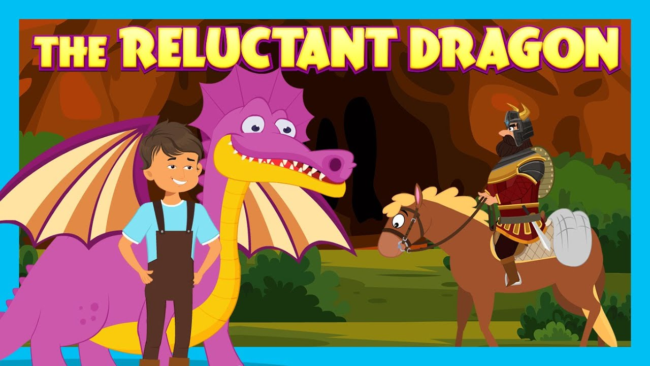 THE RELUCTANT DRAGON | NEW ENGLISH KIDS STORIES | TIA & TOFU STORYTELLING | BEDTIME KIDS HUT STORIES