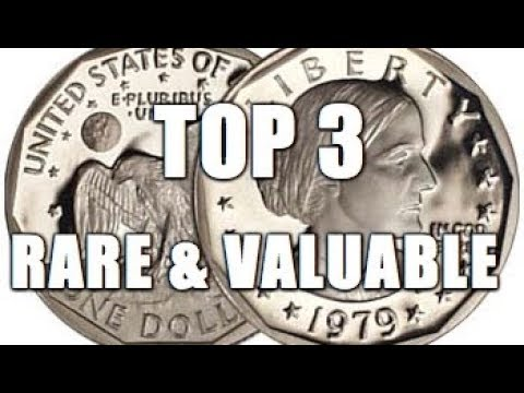 Top 3 Rare & Valuable Susan B  Anthony Dollar Coins Worth Big Money!