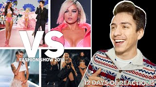 12 DAYS OF REACTIONS! !DAY ONE! Victoria Secret Fashion Show 2018| E2 Reacts