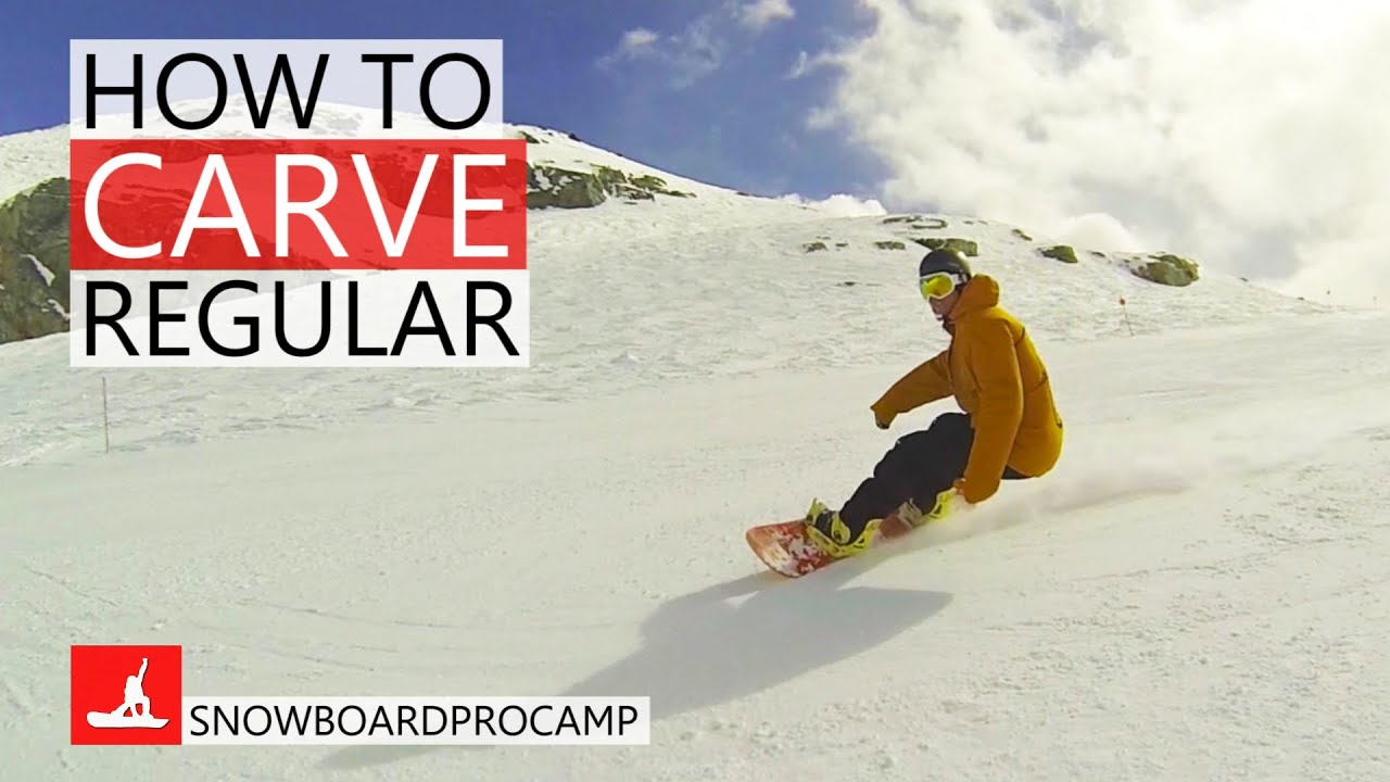 How to carve on a snowboard regular