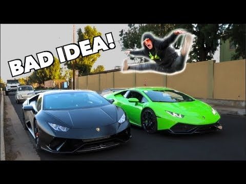 Logan Paul Jumped Over My Lamborghini Dangerous Youtube